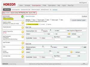Horizon Inspection Software