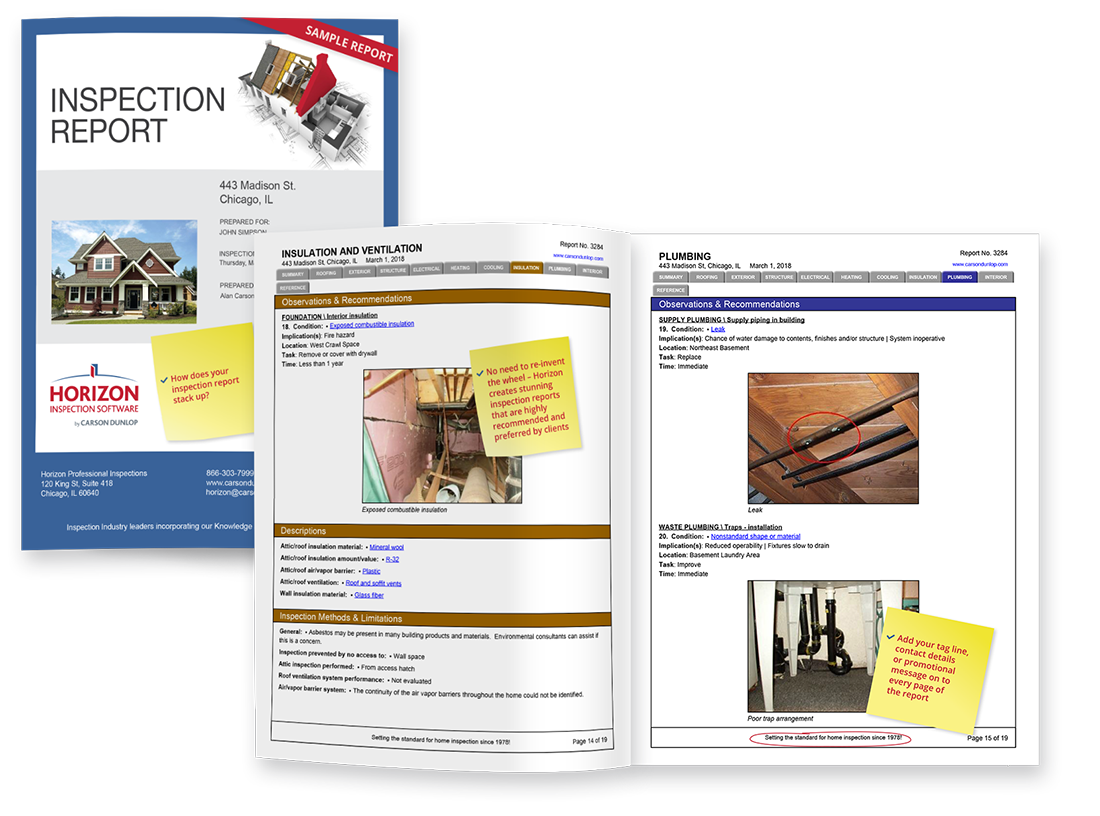 A powerful Report Writing tool | Horizon Inspection Software