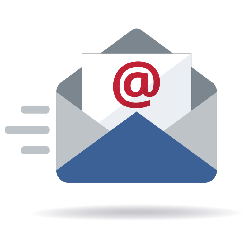 Sent email icon illustration