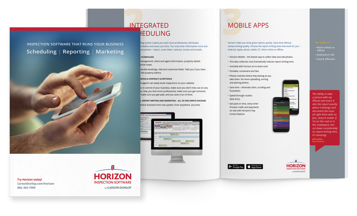 Horizon inspection software brochure