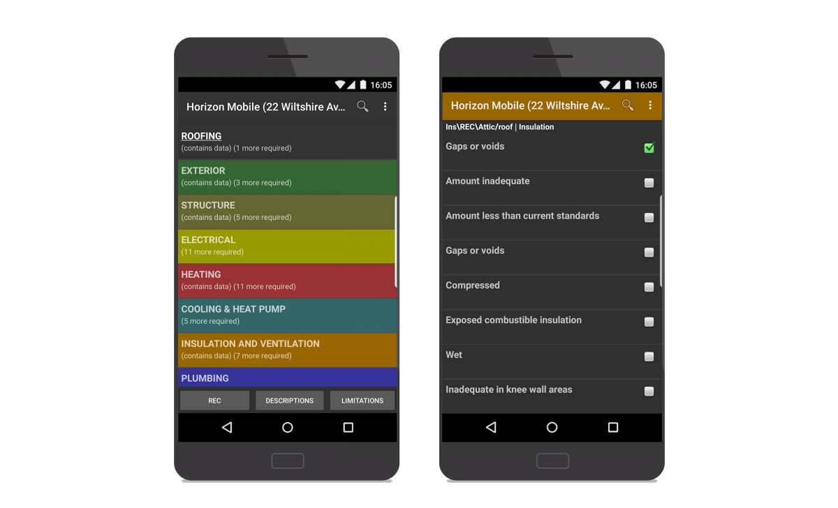 Horizon Mobile App in Android device