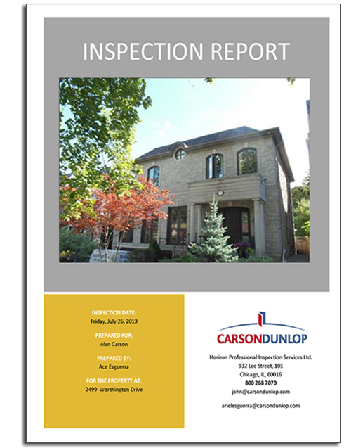 Customized Home Inspection Sample Report