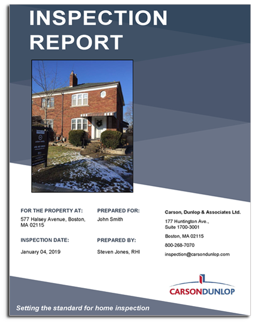 Home Inspection Report Example Blue