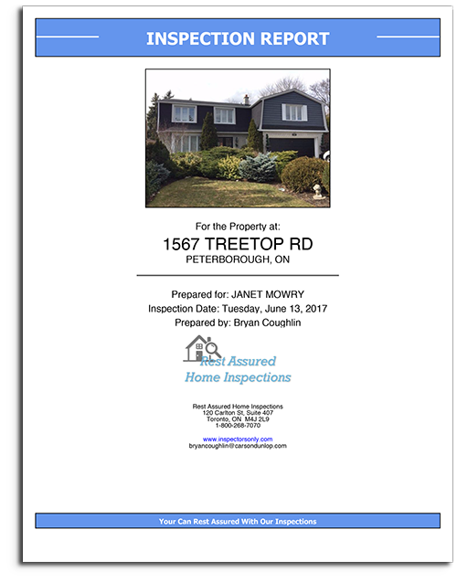 Simplified Home Inspection Report Sample