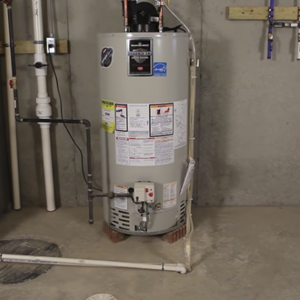 Flushing water heater