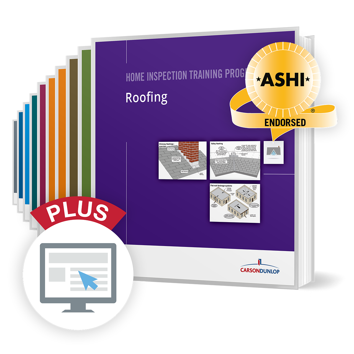Complete Home Inspection Training Program with computer icon for online component, ASHI endorsed