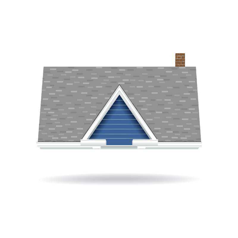 roof of house as icon for roofing home inspection course